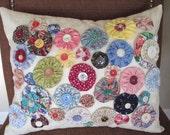 Yo Yo Pillow - YoYo Frenzy Decorative Pillow 12x16 - READY to SHIP