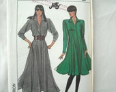 Vintage Pattern, Simplicity Jiffy Dress 8229, Flared Princess Seamed, 1980s