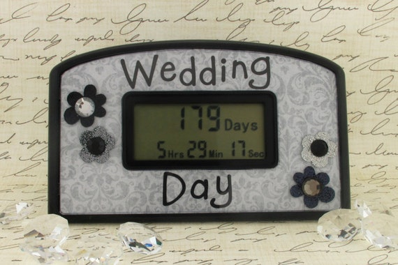 Wedding Gift Clock: Wedding Day Countdown Clock By TimelyGifts On Etsy