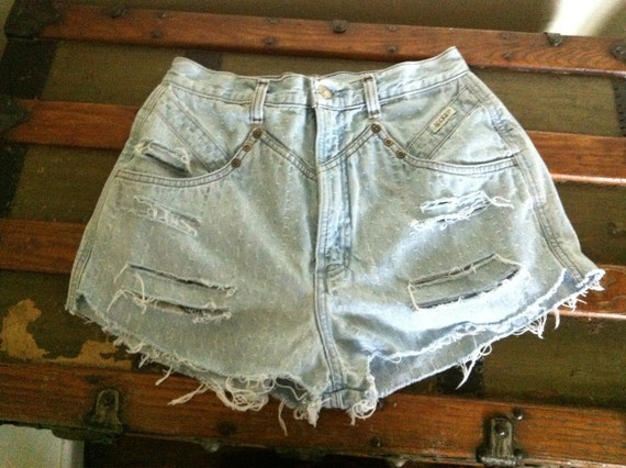 Rock it with the rockies high waisted cut offs