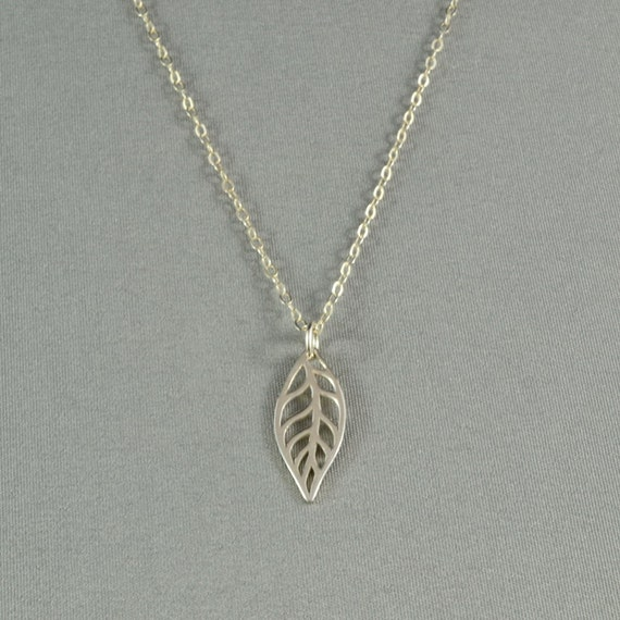 Openwork Leaf  Necklace,  925 Sterling Silver, Sparkly Chain, Modern, Simple, Delicate Necklace