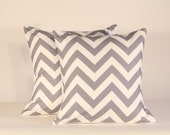 Set of two 18x18 Grey Chevron Pillow Covers (FREE SHIPPING)