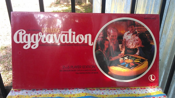1977 Deluxe Aggravation Board Game vintage Lakeside