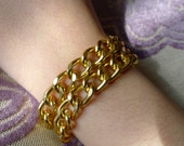 Hebe- Simple Gold Chain Double Wrap Bracelet