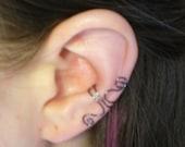 Ear Cuff Hematite Wire Spirals, Small
