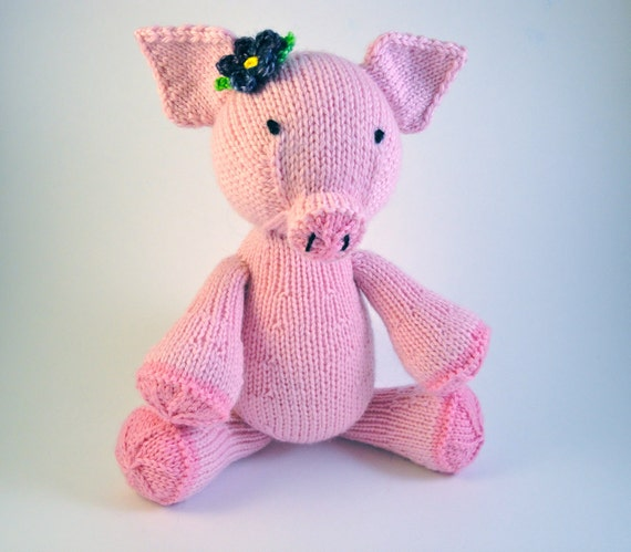 CUSTOM KNIT Annabelle the Hand Knit Pig