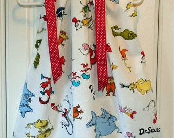 Featuring Dr Seuss White - Pillowcase Dress - Sizes 3 months,thru 6/7 :CH017