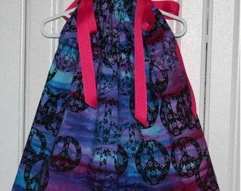 Peace Symbol Boutique Pillowcase Dress :PC012