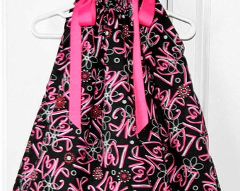 Love Pink and Black Boutique Pillowcase Dress :PC016