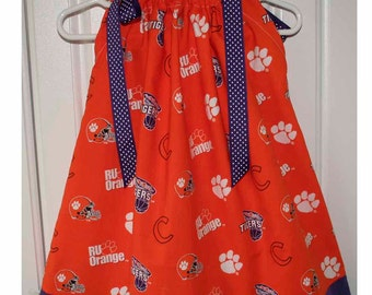 Featuring Clemson Tigers R U Orange Pillowcase Dress :TD007
