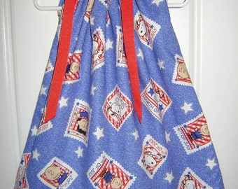 Snoopy and the Gang 4th of July Pillowcase Dress :J4001