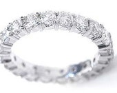 Vintage 5.25CT DIAMOND Heavy Platinum Fancy Eternity Ring/Band From 1940's