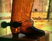 Vintage avon cowboy boot decanter.
