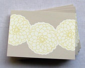 Blank Note Cards with Zinnia Flowers - Set of 5