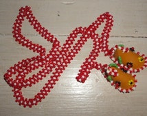 1960s hand beaded moccasins necklace*