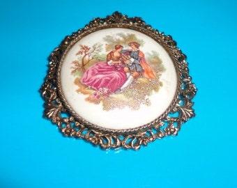 porcelain victorian  pendant*