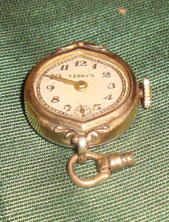 RESERVED Rare ladies watch made by Tenny's 50's-60's era repair - wear - parts