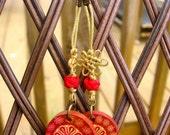 Fiery Red Blossom earrings