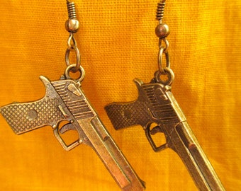 James Bond Golden Eye Gun Earrings