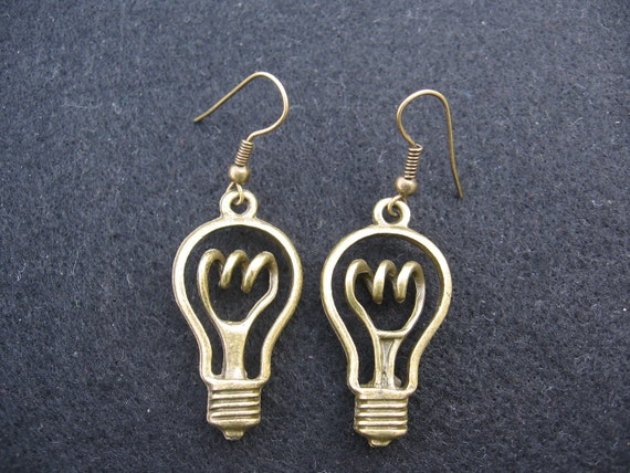 Light Bulb (The lights are on upstairs) Earrings