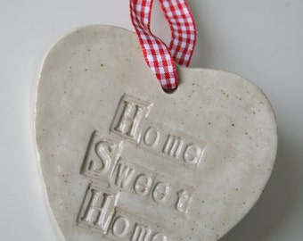Home Sweet Home Ceramic Hanging Heart Gift