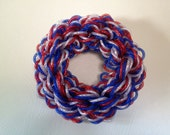 "SALE  15"" Patriotic Mesh Wreath"