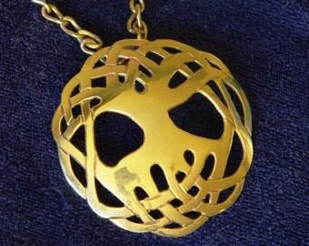Spiritual Pendant. ,brass tree of life pendant