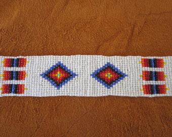 Glass Beaded Strip 20 x 1.25  Tribal Regalia Beadwork Craft S4