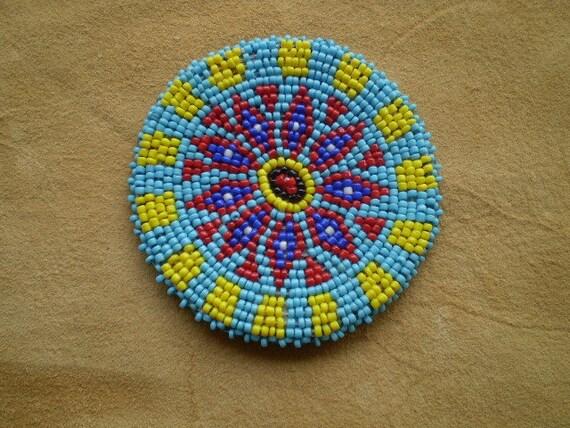 beaded rosette medallion tribal regalia by