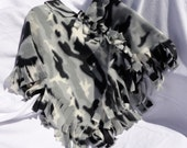 Childs Winter Camo Tied Poncho