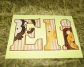 CUSTOM LISTING for Ted - Original Beaded Baby Name painting, OOAK