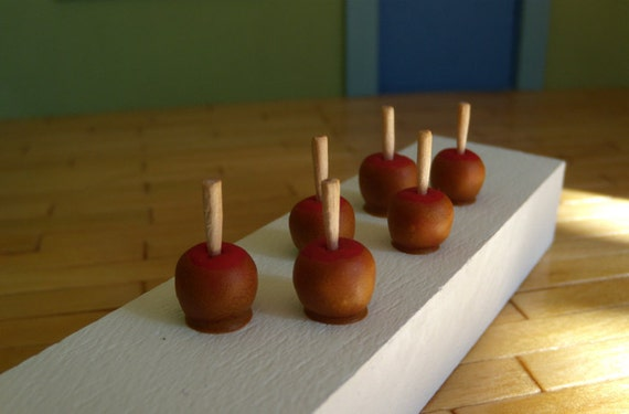 Set of 6 - Miniature Caramel Apples