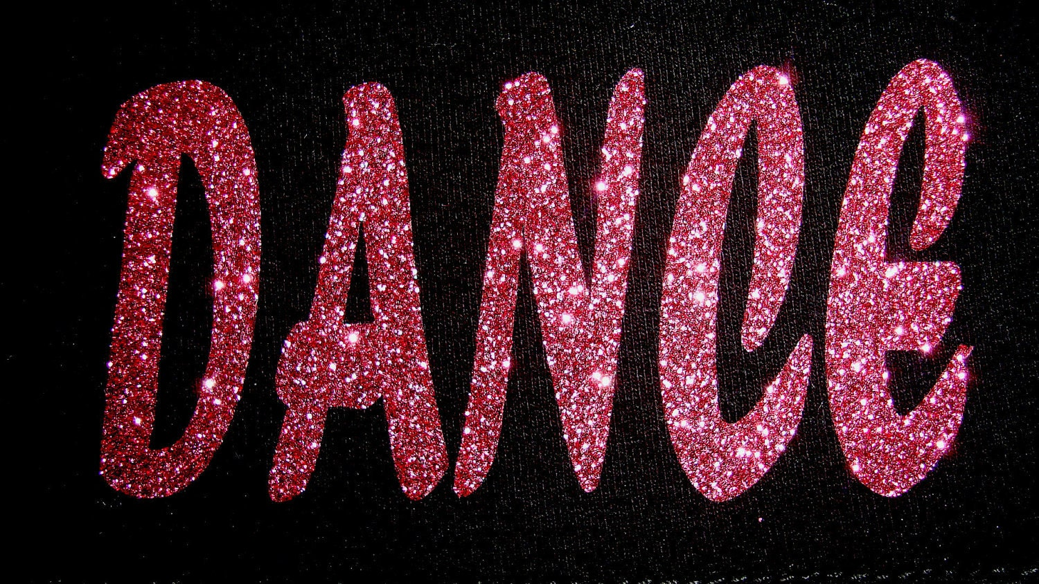 dance or cheer iron on decals  appliques  glitter transfers  from weartostart on etsy studio