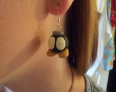 1 Pair(2) Super Mario Brothers Bob-Omb Bomb Custom Poly Clay Earrings