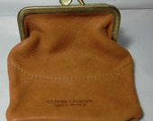 Deerskin multi compartment Snap closure coin pouch
