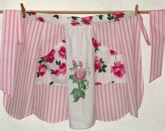 Roses Bloom Pink Apron