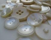 Vintage Button Stash in Pearls and Creams