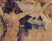 Toulouse Latrec Lithograph Book Print 1892 Ballet De Papa Chrysantème