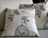Handmade - decorative - birdcage - patterned - white - pastel - lace pillows