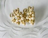 Vintage Costume Jewelry - Napier Grape Vine Earrings