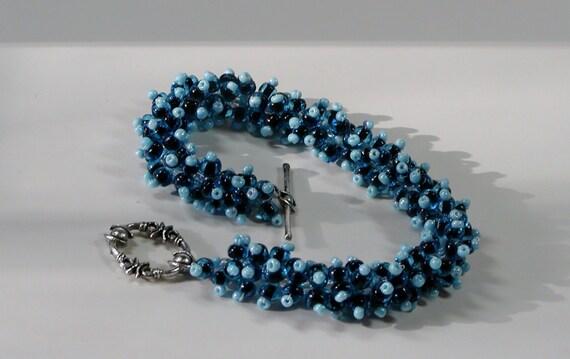 Ocean Wave seedbead bracelet