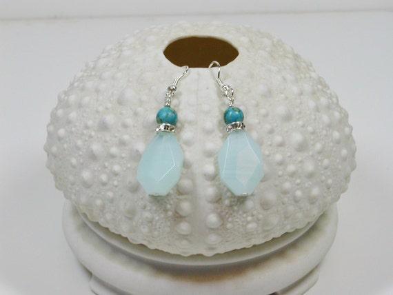 Sea Foam Green dangle earrings