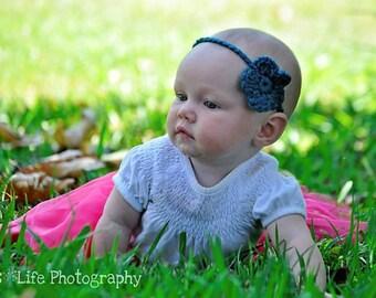 5 Everyday Flower Baby Headband- MANY COLORS