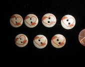 Heart Buttons - Wooden Flowers and Hearts Button Lot
