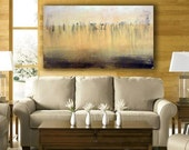 """Large ORIGINAL Oil Painting *FREE SHIPPING* Abstract Art Modern Contemporary Landscape Ready to Hang 24""""x48"""" Serenity"""
