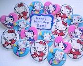 1 dozen Hello Kitty Vanilla Almond Decorated Sugar Cookies Ballerina Fairy Mermaid