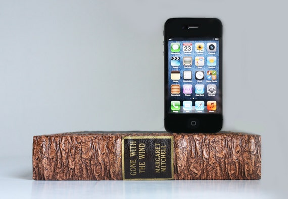 Apple iPhone 4S Charging Dock - Gone With the Wind Hidden Compartment Book Dock