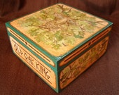 "FREE SHIPPING - Wooden Box - Hand Painted Box - Jewelery Box - Tarot Box ""Old Oak King"""