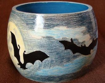 """Wood Bracelet - Wood Bangle """"Moonlight Night"""" / Free Shipping"""