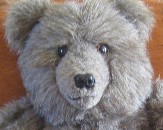 Hugable Vintage Hanadmade Bear- Jointed - Never Used - Handmade Stuffed Animal - Teddy Bear
